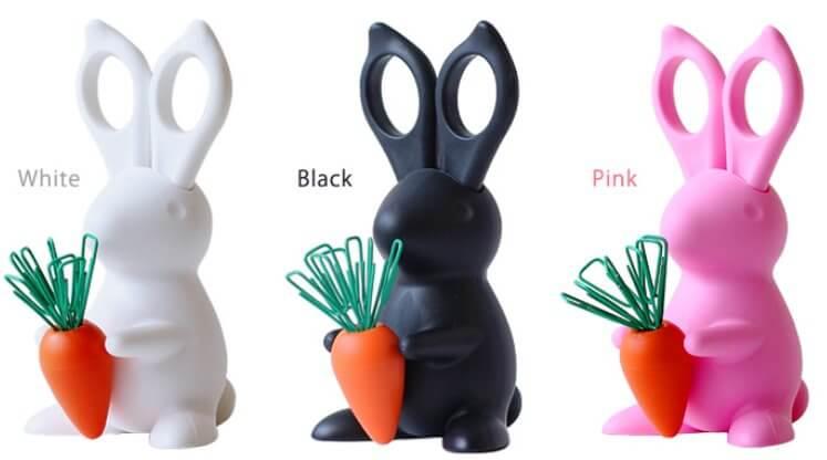 うさぎのデスクオーガナイザー「 Desk Bunny Scussors&Clip Holder 」