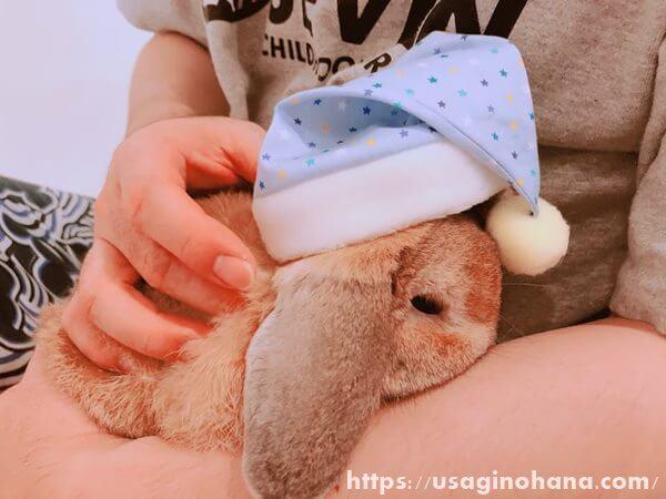 うさぎ用手作り帽子/グレースリリー