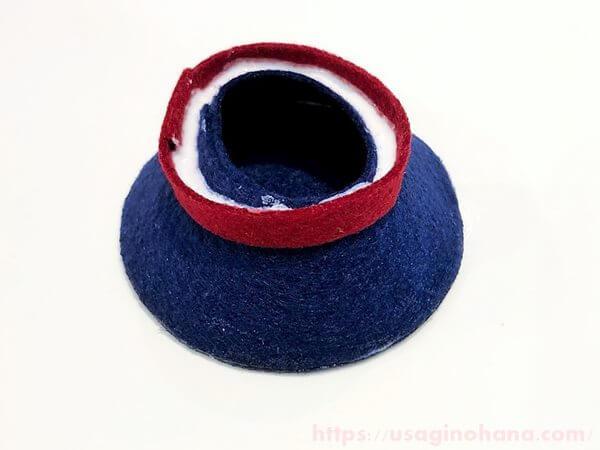 手作りのうさぎ帽子