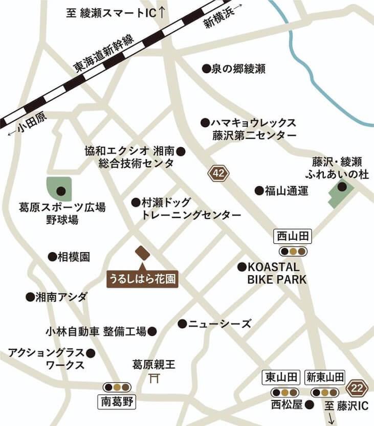 ラビットパーク藤沢の詳細地図
